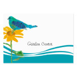 Pretty Blue Bird and sunflower Pack Of Chubby Business Cards