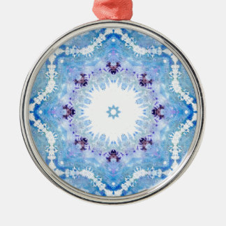 Pretty blue butterflies christmas ornament