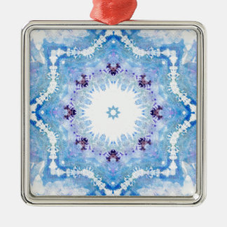 Pretty blue butterflies christmas ornament