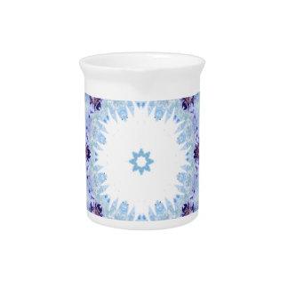 Pretty blue butterflies pitcher