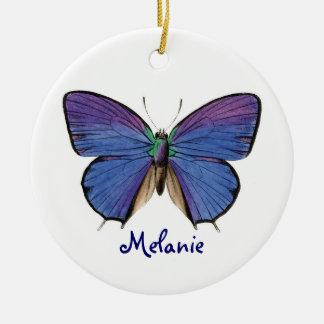 Pretty Blue Butterfly Christmas Ornament