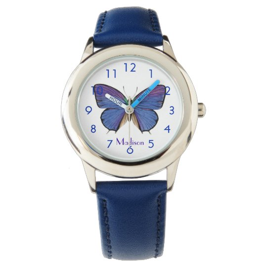 Pretty Blue Butterfly Watch