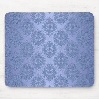 Pretty Blue Damask Mouse Mat