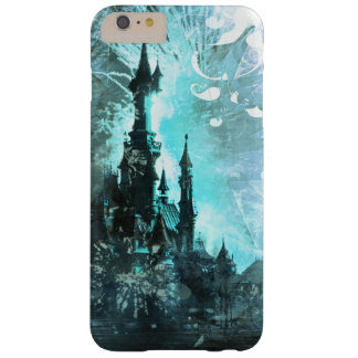 Pretty Blue Fairy Tale Fantasy Castle Barely There iPhone 6 Plus Case