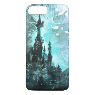 Pretty Blue Fairy Tale Fantasy Castle iPhone 7 Plus Case