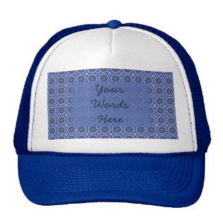 Pretty Blue Floral Pattern Cap