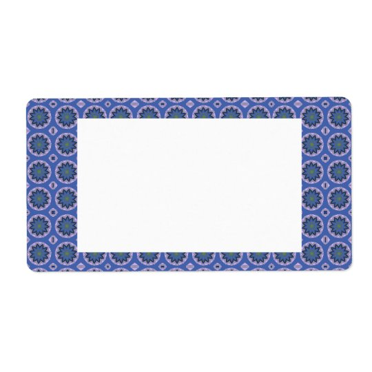 Pretty Blue Floral Pattern Shipping Label