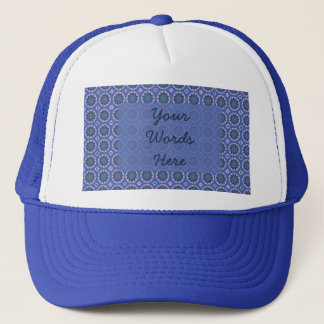 Pretty Blue Floral Pattern Trucker Hat