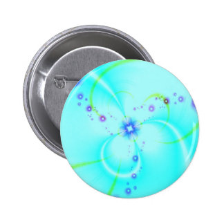 Pretty Blue Flower 6 Cm Round Badge