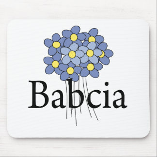 Pretty Blue Flower Babcia T-shirt Mouse Pad