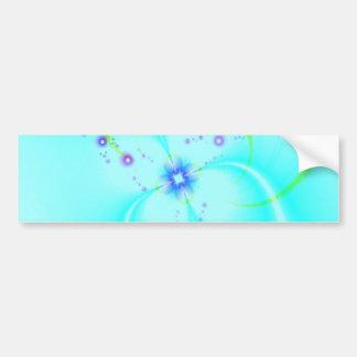 Pretty Blue Flower Bumper Sticker