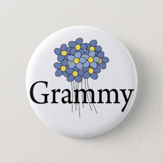 Pretty Blue Flower Grammy T-shirt 6 Cm Round Badge