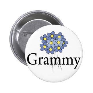 Pretty Blue Flower Grammy T-shirt 6 Cm Round Badge