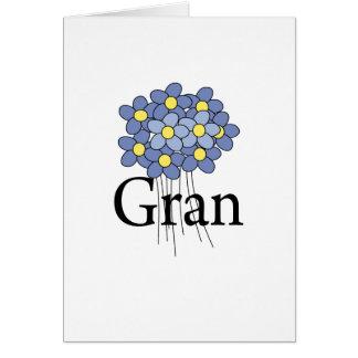 Pretty Blue Flower Gran T-shirt Greeting Cards