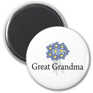 Pretty Blue Flower Great Grandma T-shirt 6 Cm Round Magnet