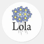 Pretty Blue Flower Lola T-shirt Stickers