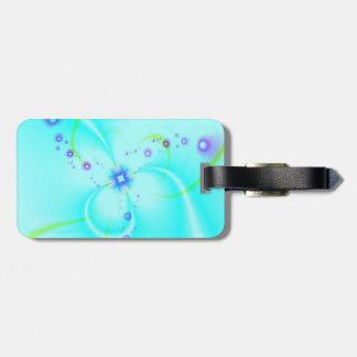 Pretty Blue Flower Luggage Tag