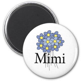Pretty Blue Flower Mimi T-shirt 6 Cm Round Magnet
