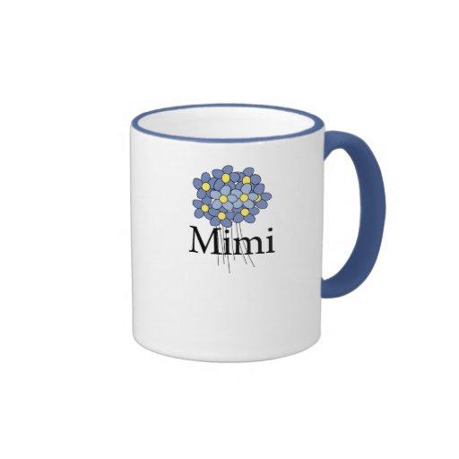 Pretty Blue Flower Mimi T-shirt Coffee Mugs