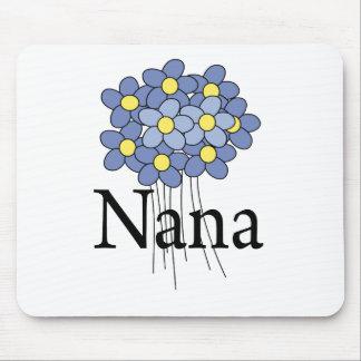 Pretty Blue Flower Nana T-shirt Mouse Mat