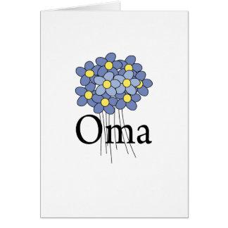 Pretty Blue Flower Oma T-shirt Cards