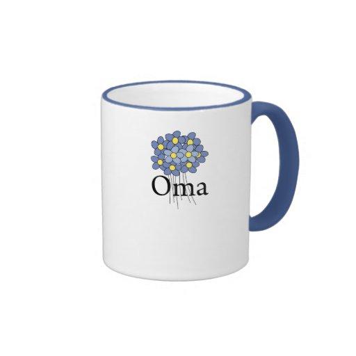 Pretty Blue Flower Oma T-shirt Coffee Mug