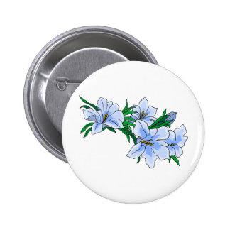 Pretty Blue Flowers 6 Cm Round Badge