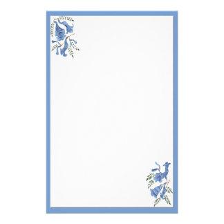 Pretty Blue Flowers Stationery
