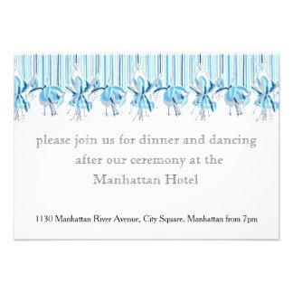 Pretty Blue Flowers Wedding Stationery Custom Announcements