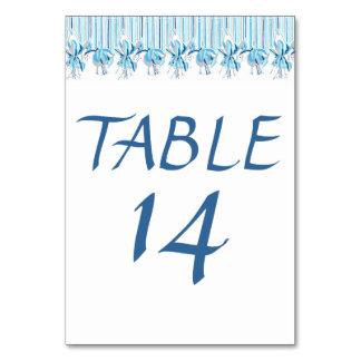 Pretty Blue Flowers Wedding Stationery Table Card