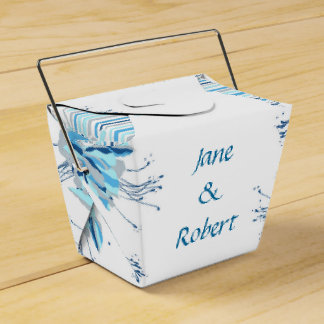 Pretty Blue Flowers Wedding Stationery Wedding Favour Box