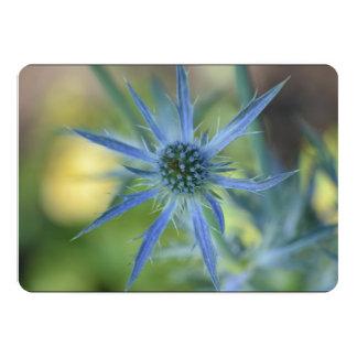 """Pretty Blue Globe Thistle 5"""" X 7"""" Invitation Card"""