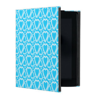 Pretty Blue Hearts Pattern Mobile Case Covers For iPad