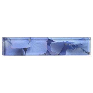 Pretty Blue Hydrangea Desk Nameplates