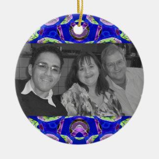 pretty blue jewel photoframe ornament