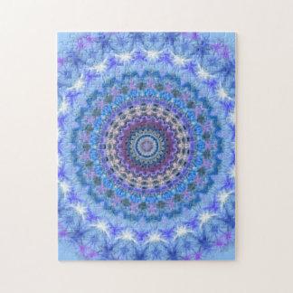 Pretty blue Kaleidoscope Mandala Jigsaw Puzzle