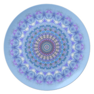Pretty blue Kaleidoscope Mandala plate