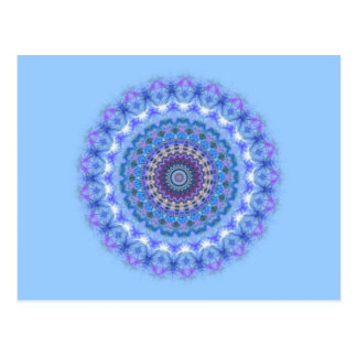 Pretty blue Kaleidoscope Mandala postcard