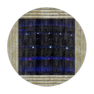 Pretty Blue Light Stripes Cutting Board