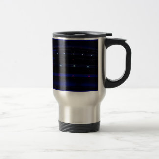Pretty Blue Light Stripes Stainless Steel Travel Mug
