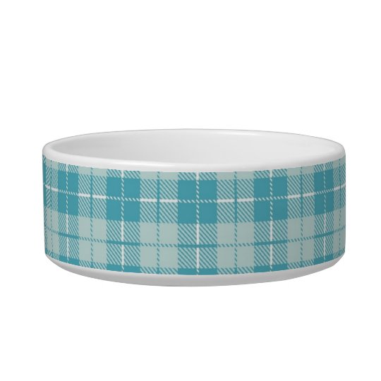 Pretty Blue Plaid Bowl