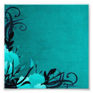 Pretty Blue Rose Floral Vines Photo