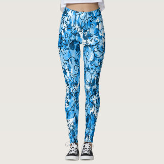 Pretty Blue Skulls Leggings