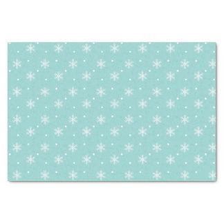Pretty Blue Snowflake Pattern Tissue Paper