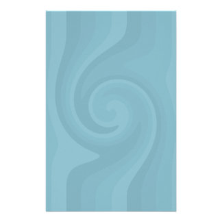 Pretty blue swirl stationery