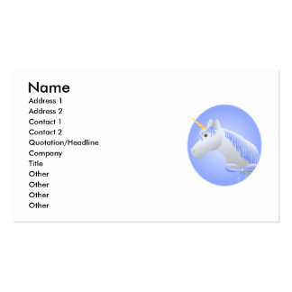Pretty Blue Unicorn Business Card Templates