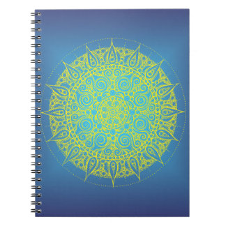 Pretty Blue/Yellow Oriental Design Notebook