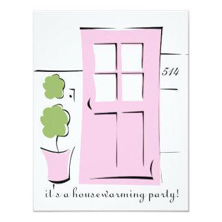 Pretty Blush Pink Door 11 Cm X 14 Cm Invitation Card
