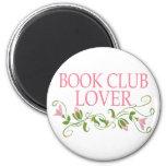 Pretty Book Club Lover Fridge Magnet