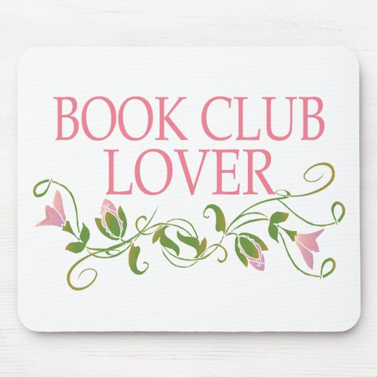 Pretty Book Club Lover Mouse Pad